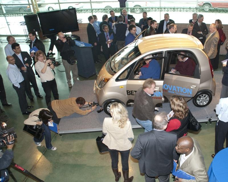 Tata Nano on Display