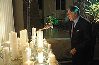 Ratan Tata Lighting Candles