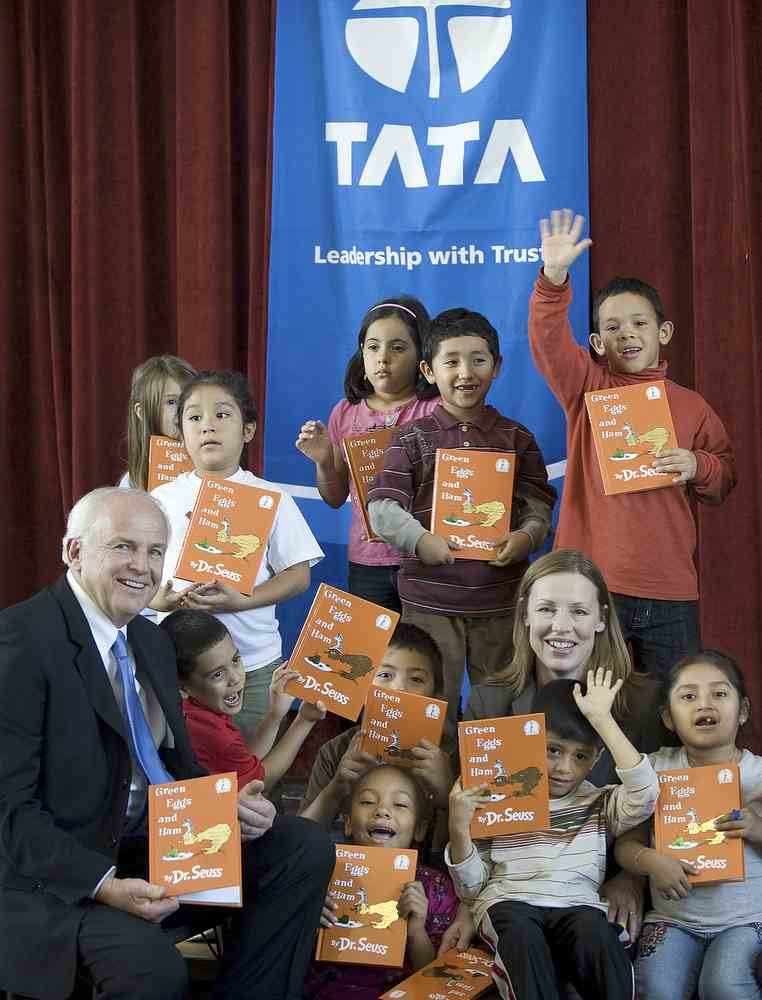 JLR President Gary Temple with First-Graders