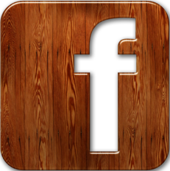 Facebook Logo - Wood