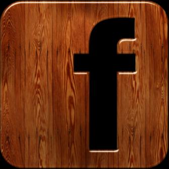 Facebook Logo - Wood