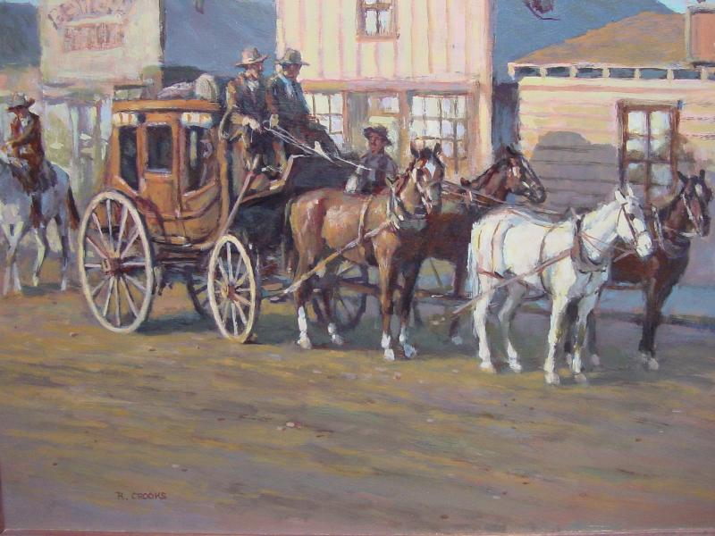 Stagecoach in Town by Crooks