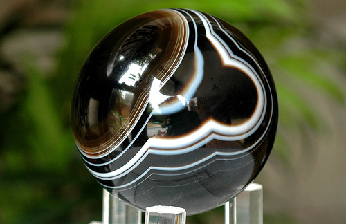 Agate Sphere Black