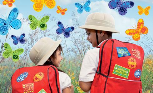Kids with Butterflies