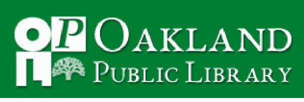 O Pub LIbrary logo on green