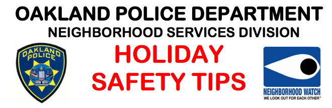opd holiday safety banner