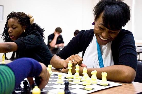 chess kids playing
