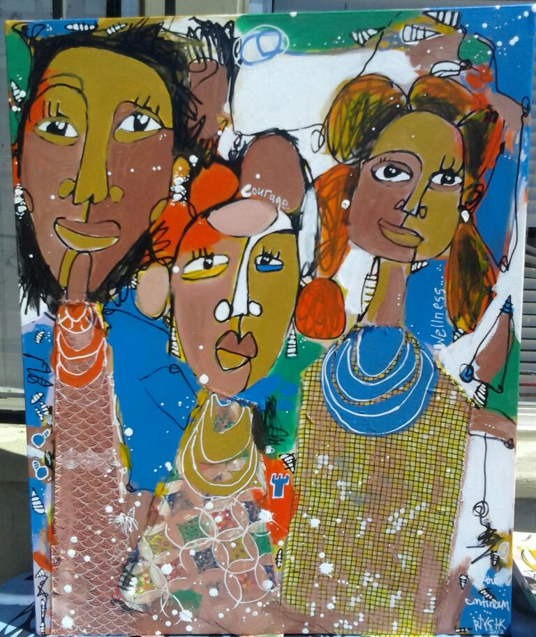 Rtystk painting of women