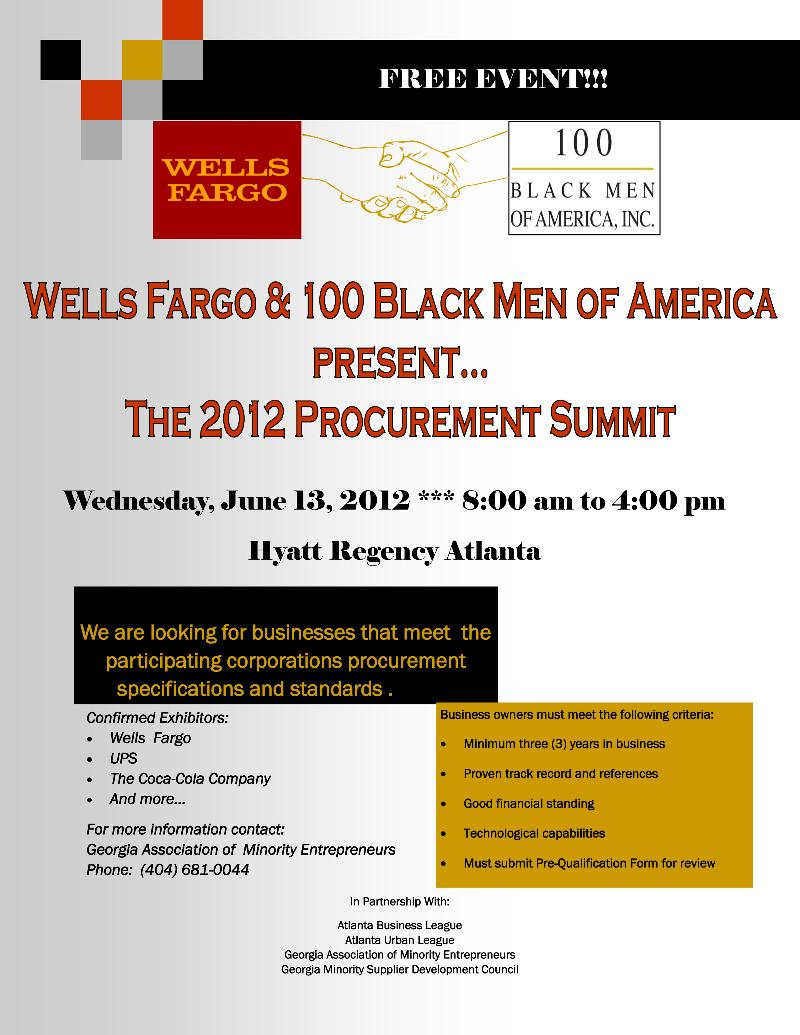 Wells Fargo/100 BMOA Procurement Summit