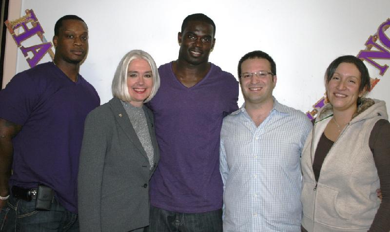 James with Michael and Jill Artsis