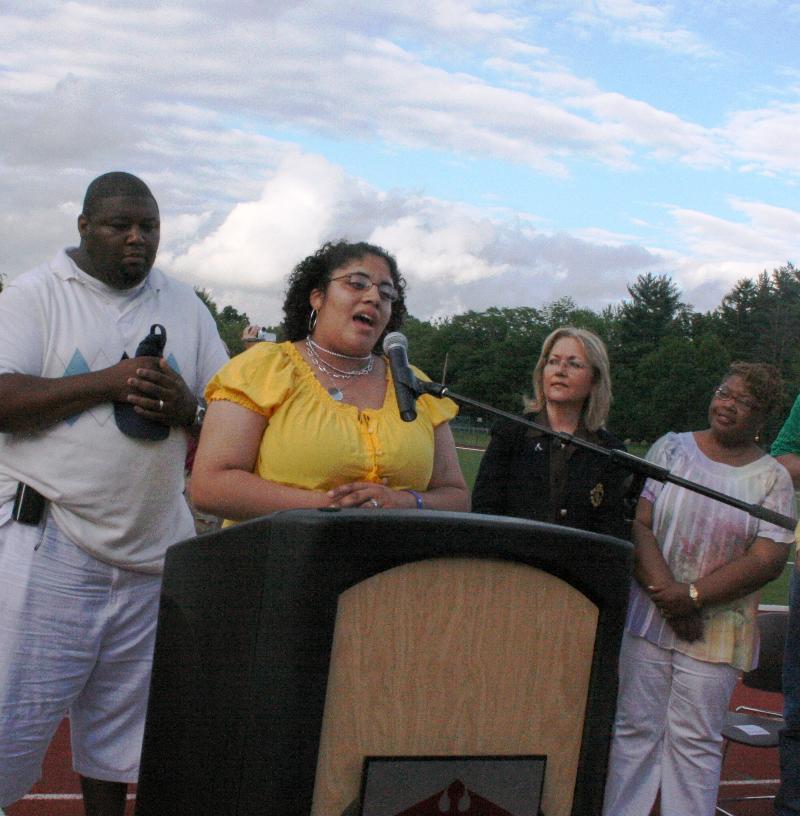 singing national anthem