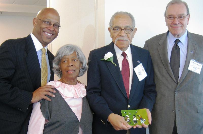 Harold Williams & family with Richard Mingoia