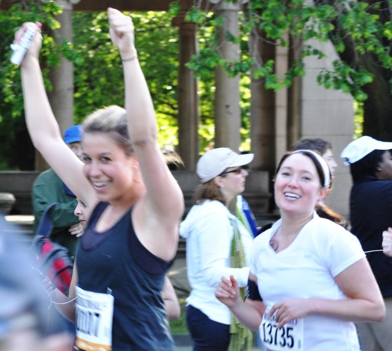 young women run marathon for YCS camp