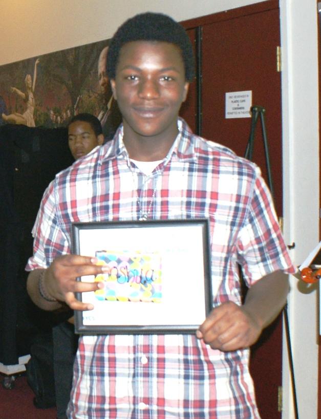 Joshua a Blossoms recipient
