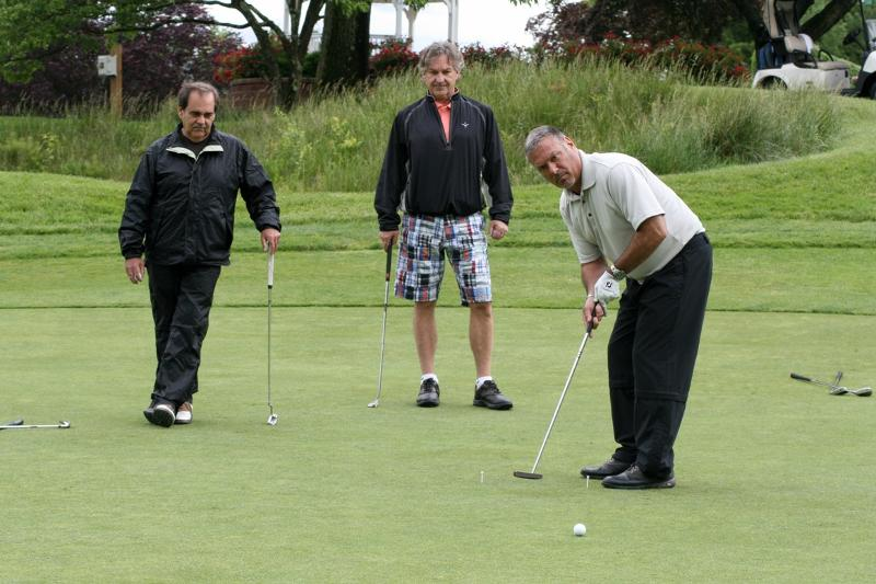 golfers in the green