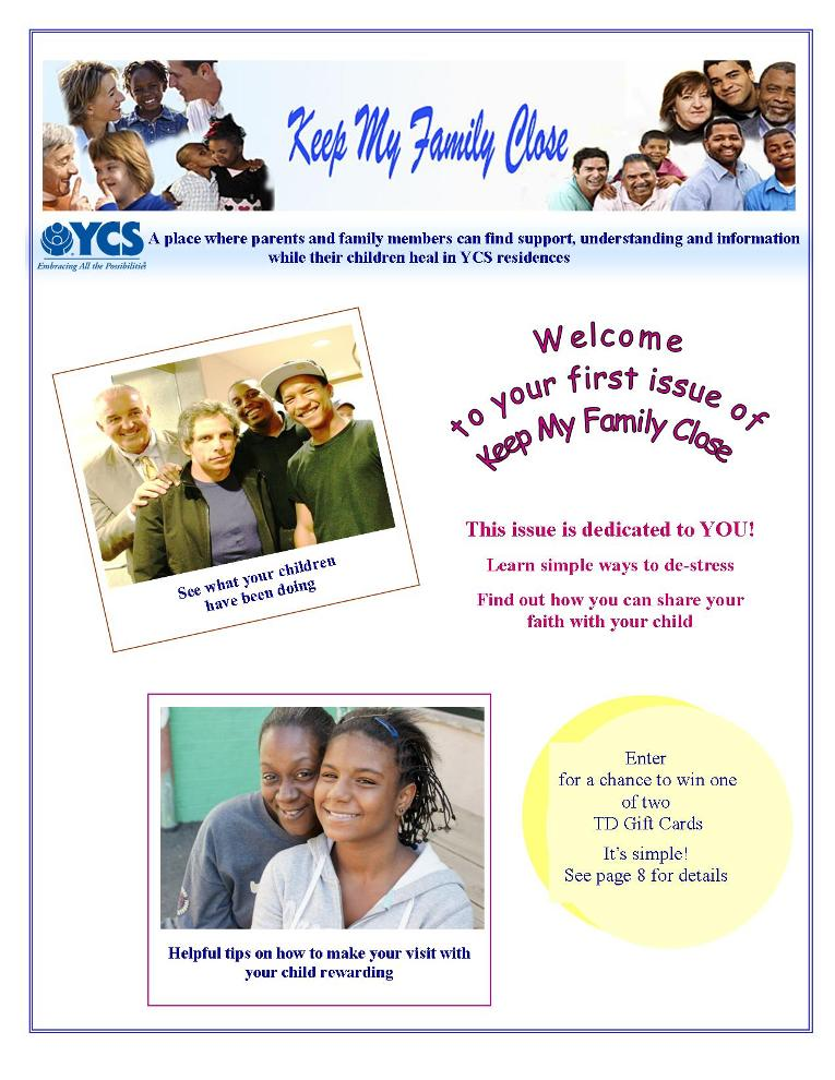 Keep My family Close Newsletter