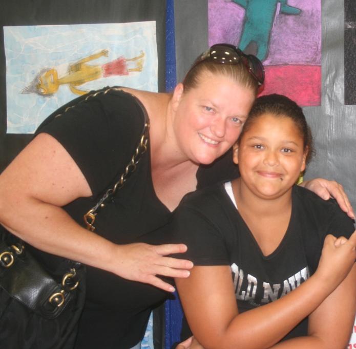 Ms Hull  & daughter