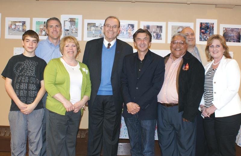 Sony President visits Holley Center