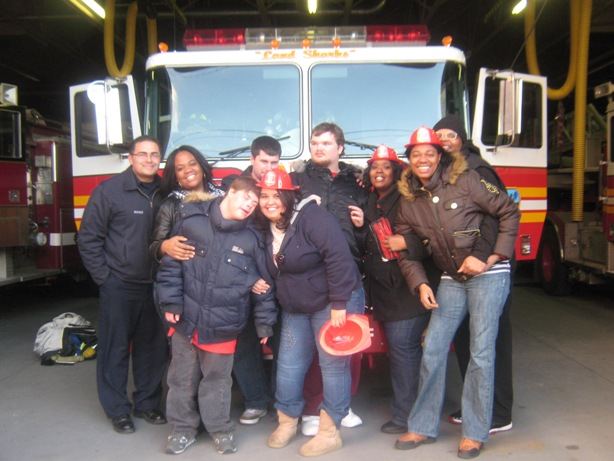sawtelle students at Fire House