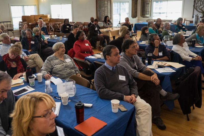 Healthy Aging Martha's Vineyard Community Meeting, December 2015. Photo by Mark Lovewell, courtesy of the Vineyard Gazette, vineyardgazette.com.