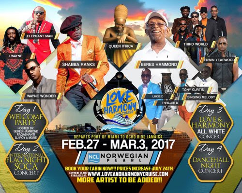 ALL ABOARD! THE LOVE & HARMONY CRUISE SET SAIL IN FEBRUARY 2017!