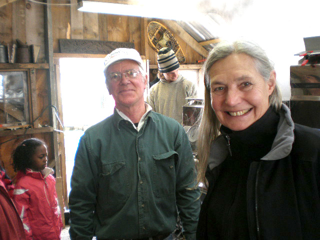 David Smith, owner of the sugar house with Capt. Linda
