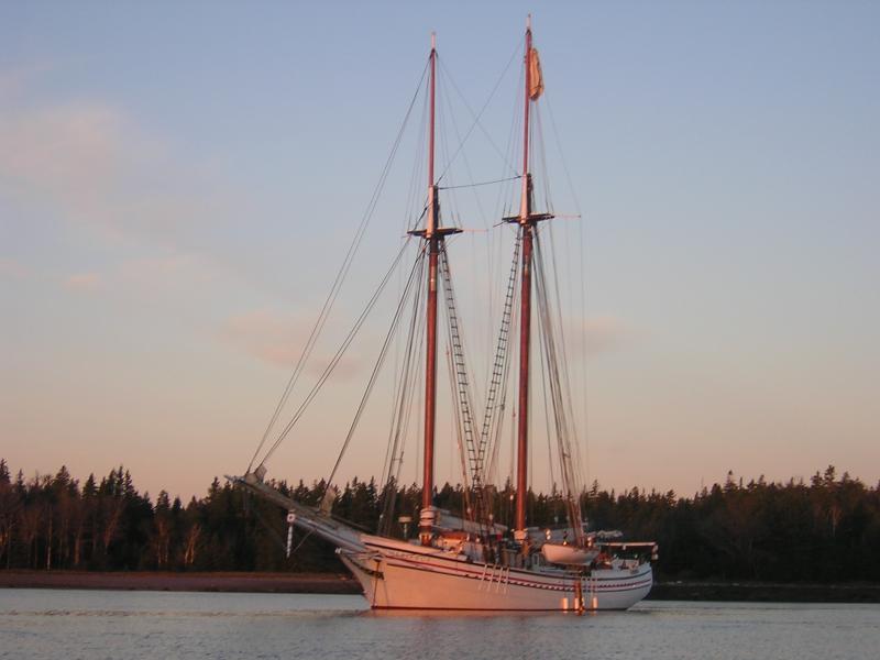Schooner Heritage at anchor