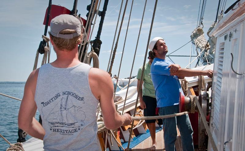 Crew members Alec & Jan  Sept 2008