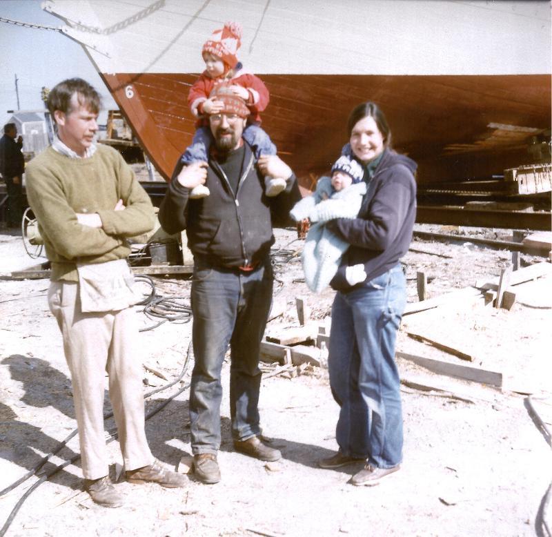 Capts Doug and Linda with Rachel, Clara & Capt John Foss