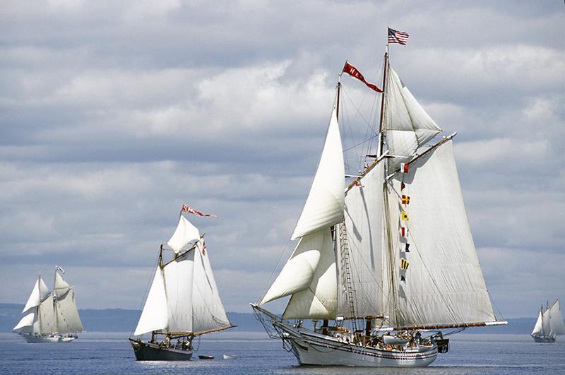 Schooner Heritage sailing with the fleet