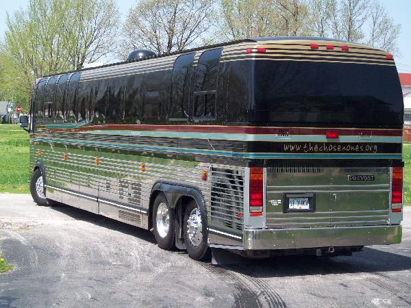 Bus pulling away