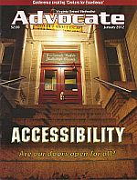 Cover showing steep steps and the word Accessibility