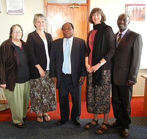 Disability team members with Vice Chancellor and special education teacher from Kenya Methodist University
