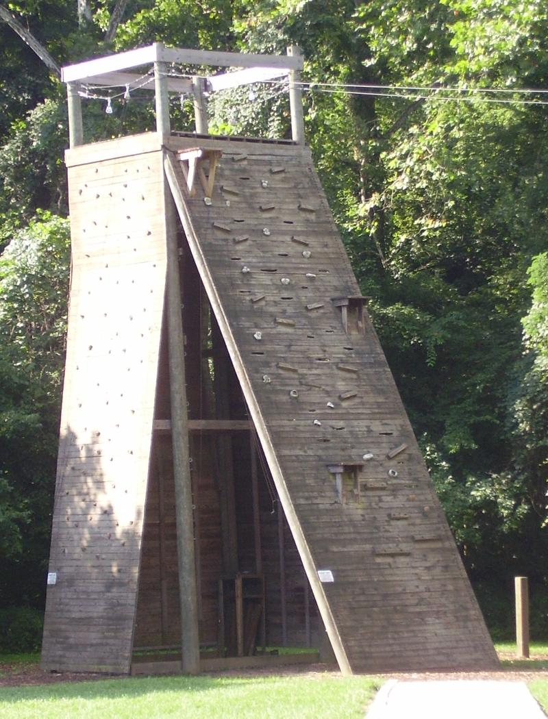 universal climbing structure at Bradford Woods