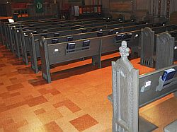pew cut with half of two pews removed