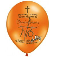 orange balloon with disability connections logo