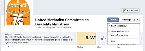 Image of the heading for the Committee Facebook  page