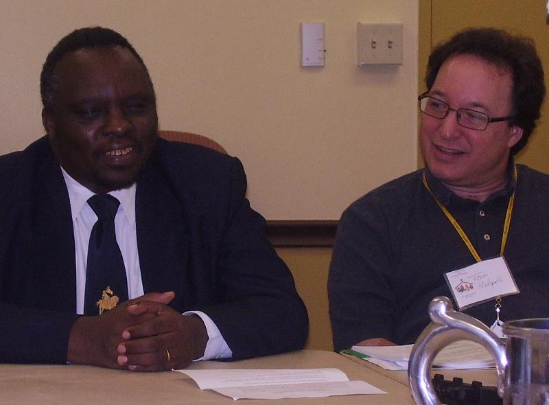 Sam Kabue and Rev. Tom Hudspeth