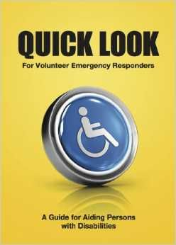 Cover of Quick Look, illustrated with a button with the universal access logo