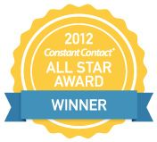 seal stating 2012 Constant Contact All Star Award Winner