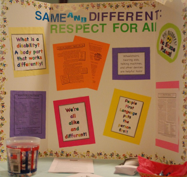 Disability Awareness display board