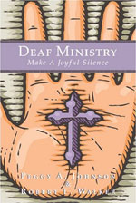 Deaf Ministry book cover showing a cross in the palm of a hand