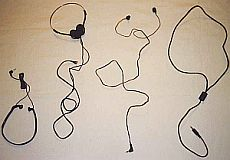 Four different types of headset cords