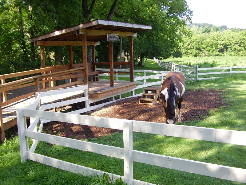 Bradfords accessible horse mounting area
