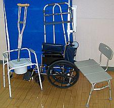 commode, wheelchair, bath bench etc. available through H.E.L.P.