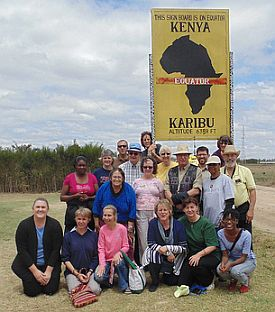 Deaf Methodist Mission team at equator in Kenya
