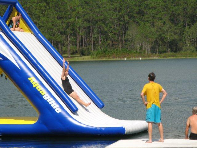 water slide at Extreme Vision camp