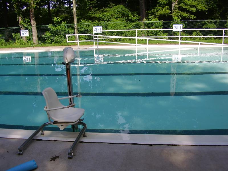Bradford Woods accessible swimming pool
