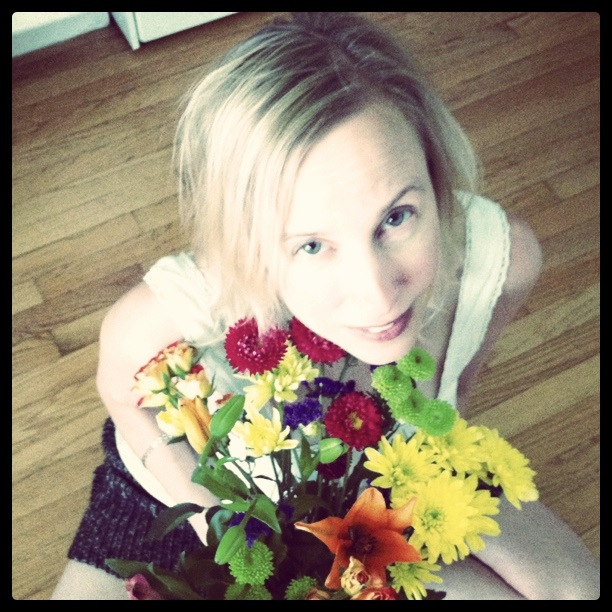 Rhonda Musak with Flowers