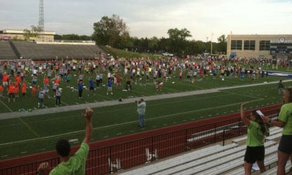 Shawnee County Largest Workout participants